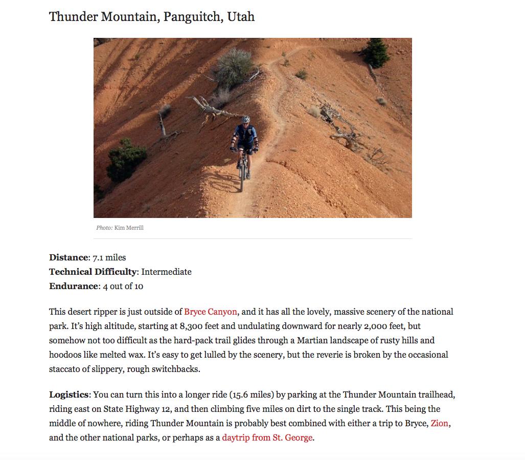 Outside Thunder Mountain