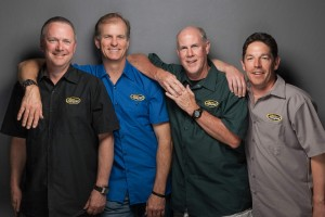Team San Diego — Kim, Steve, Gene and Don — wearing Zion Cycles new Shop Shirts