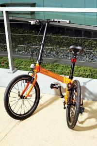 Dahon's 2015 Speed D8 in Tangerine